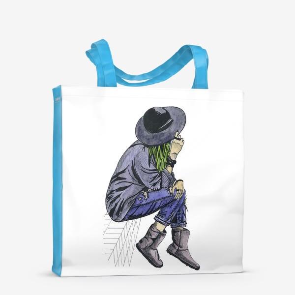 Сумка-шоппер «Девушка в шляпе»