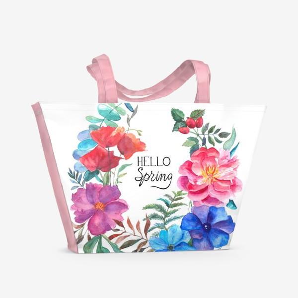 Пляжная сумка «Hello spring»