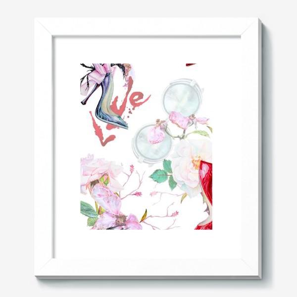 Картина «Фэшн. Женские туфли и розы»