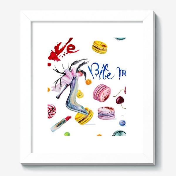 Картина «Мода, туфли и сладости»
