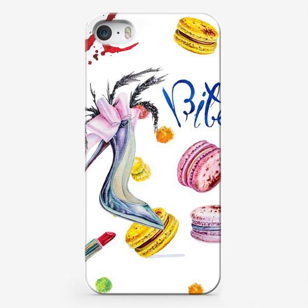 Чехол iPhone «Мода, туфли и сладости»