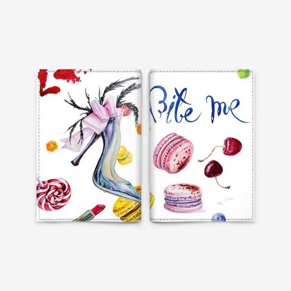 Обложка для паспорта «Мода, туфли и сладости»