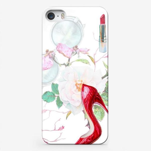 Чехол iPhone «Фэшн. Женские туфли и розы»