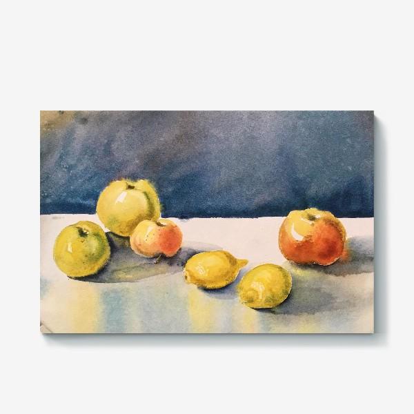 Холст «яблоки и лимоны»