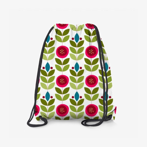Рюкзак «Ветки и ягоды в скандинавском стиле в голубых тонах»