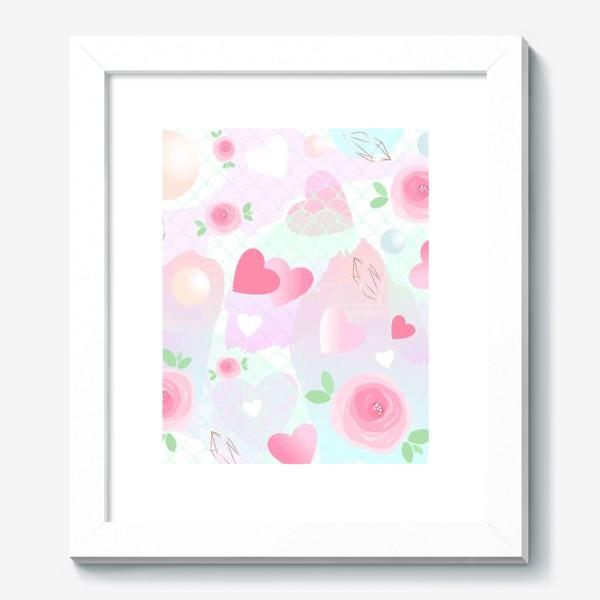 Картина «Розочки, сердечки, бусинки...»