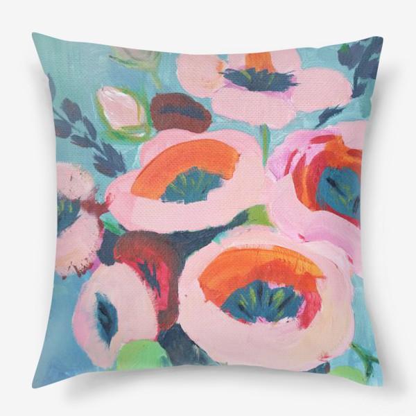 Подушка «Живописные цветы. Анемоны»