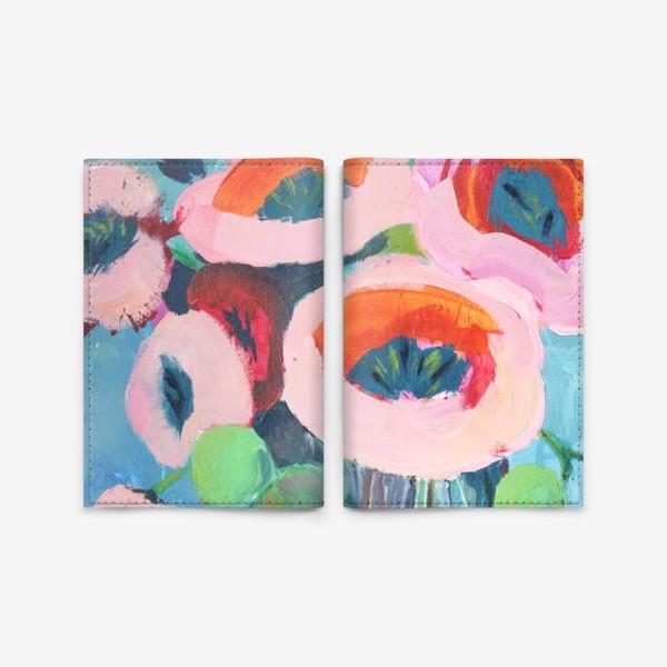 Обложка для паспорта «Живописные цветы. Анемоны»