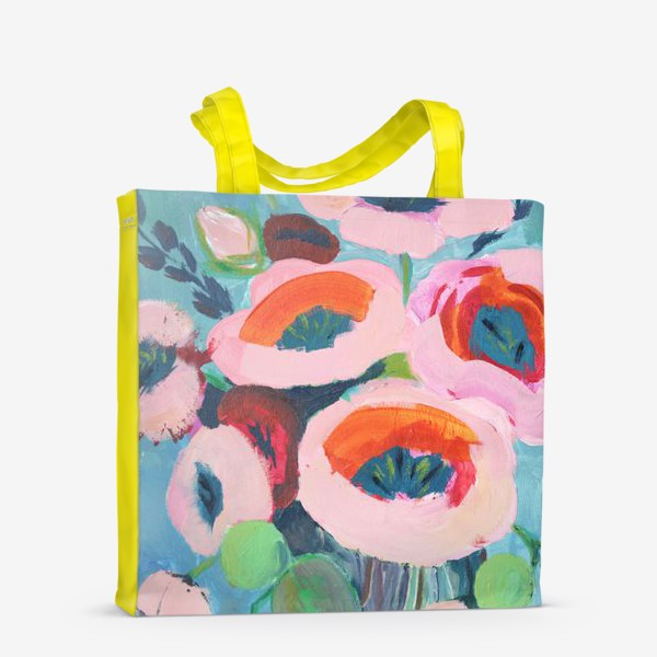 Сумка-шоппер «Живописные цветы. Анемоны»