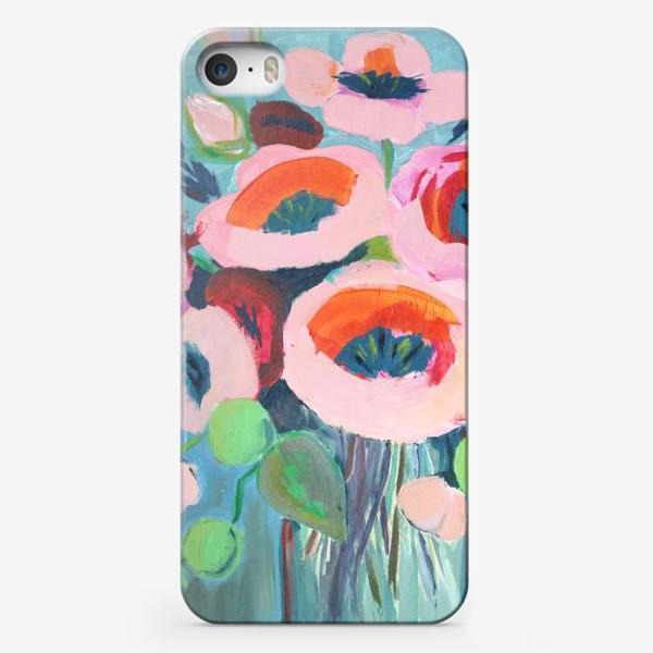 Чехол iPhone «Живописные цветы. Анемоны»