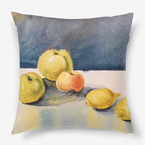 Подушка «яблоки и лимоны»