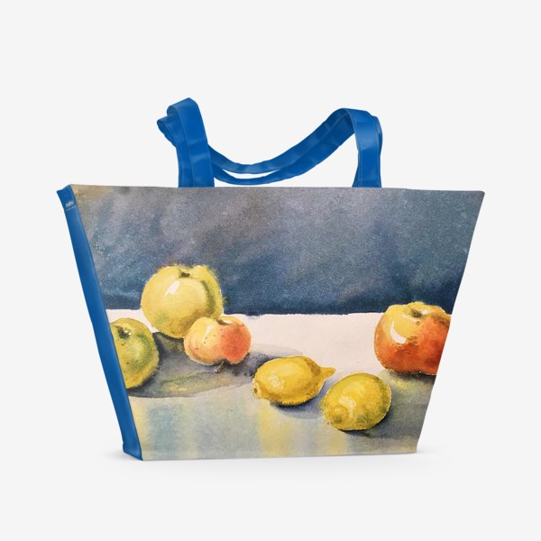 Пляжная сумка «яблоки и лимоны»