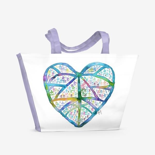 Пляжная сумка «Сердце природы»