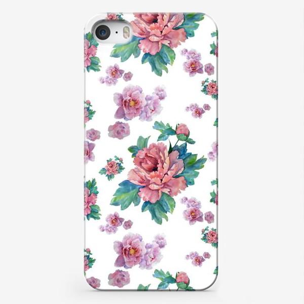 Чехол iPhone «Пионный узор»