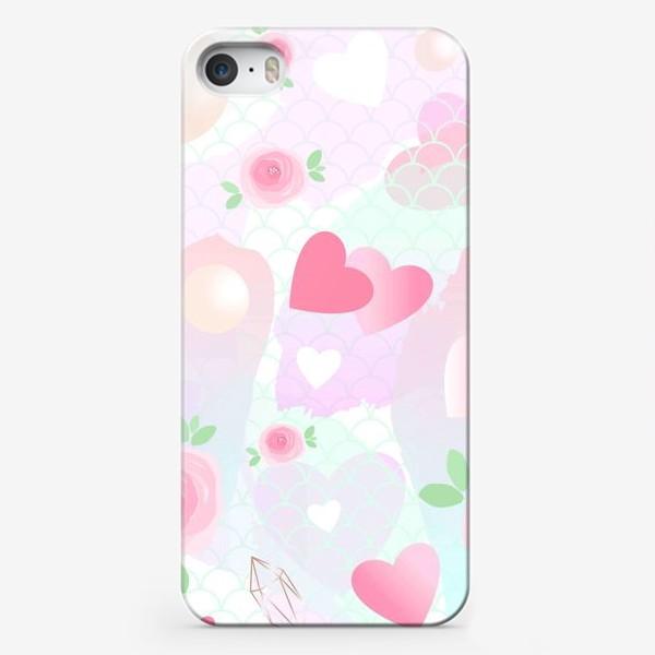 Чехол iPhone «Розочки, сердечки, бусинки...»