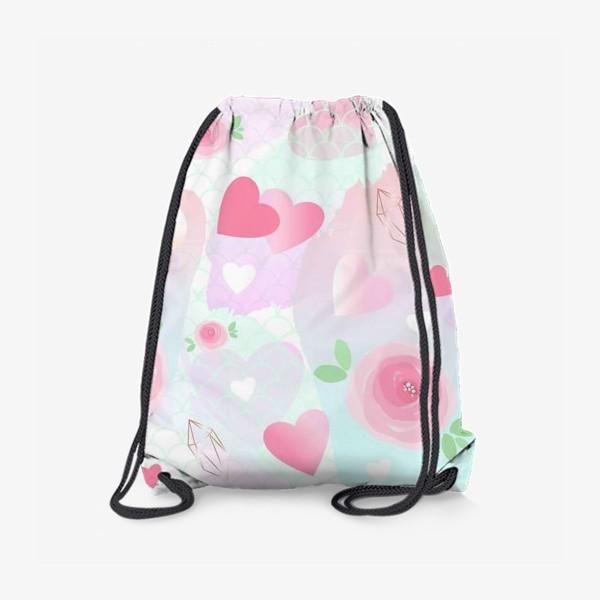 Рюкзак «Розочки, сердечки, бусинки...»