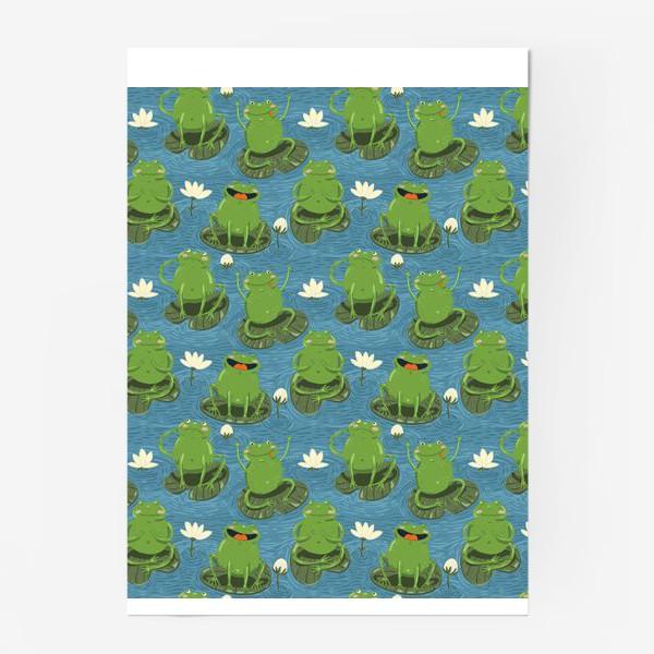 Постер «Паттерн лягушки на пруду»