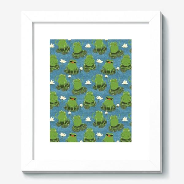 Картина «Паттерн лягушки на пруду»