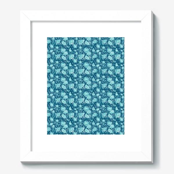 Картина «Flowers Бирюзовые цветы паттерн»