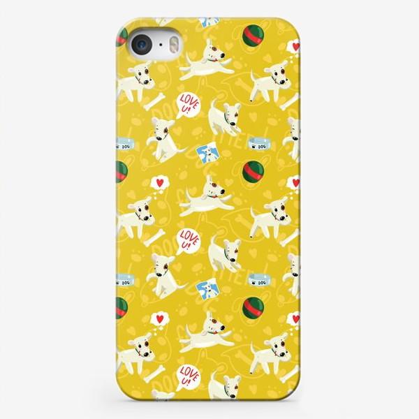 Чехол iPhone «Паттерн веселые собаки»