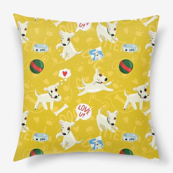 Подушка «Паттерн веселые собаки»