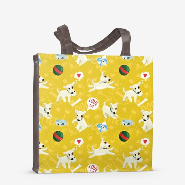 Сумка-шоппер «Паттерн веселые собаки»