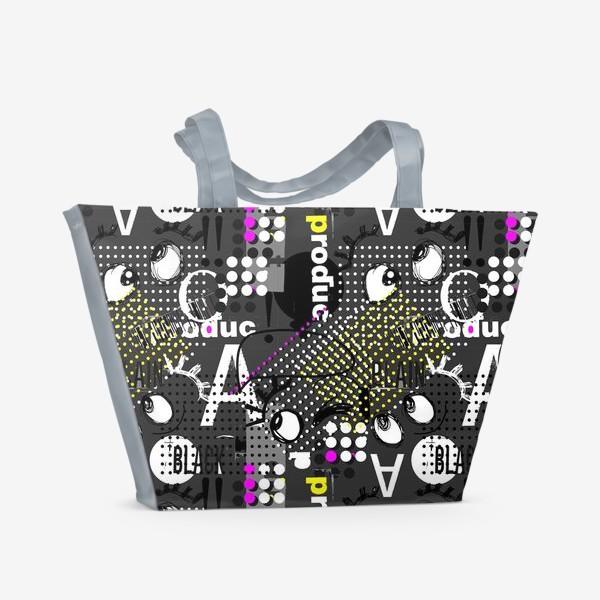 Пляжная сумка «Безумные глазки»