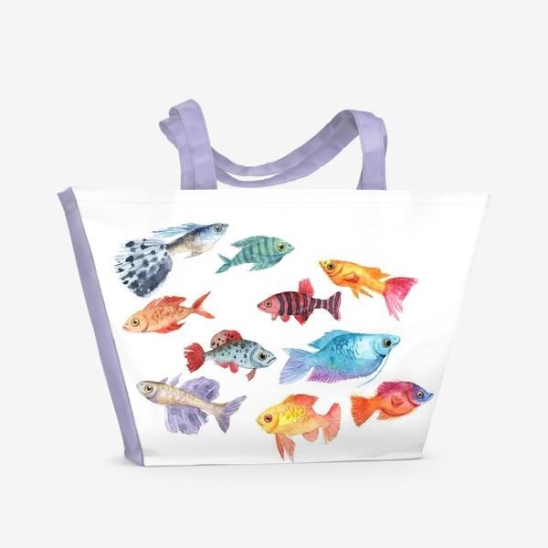 Пляжная сумка «РЫБЫ»