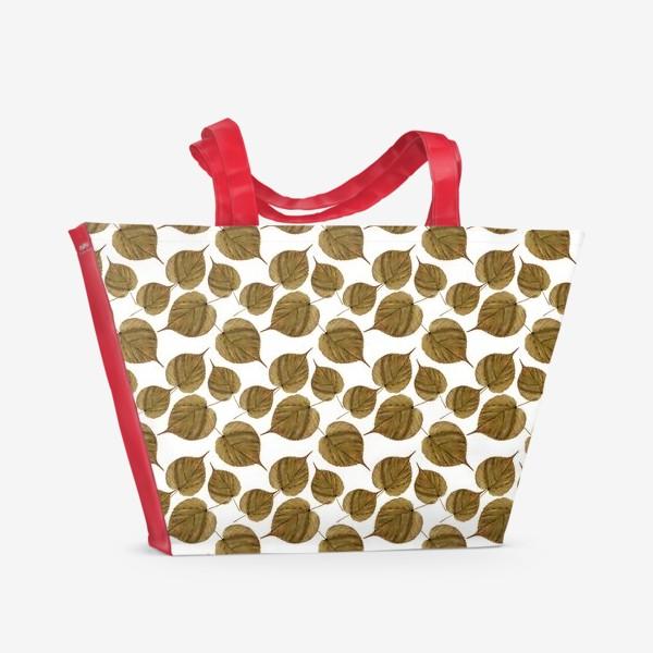 Пляжная сумка «Осенний узор»