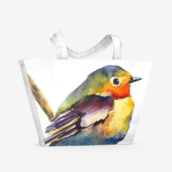 Пляжная сумка «Маленькая птичка»