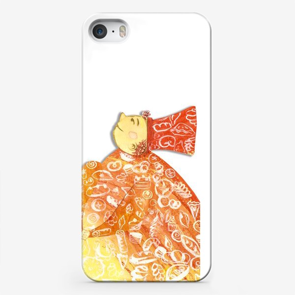 """Чехол iPhone «Детская аппликация-коллаж """"Волшебник-кондитер"""" (волшебная серия)»"""