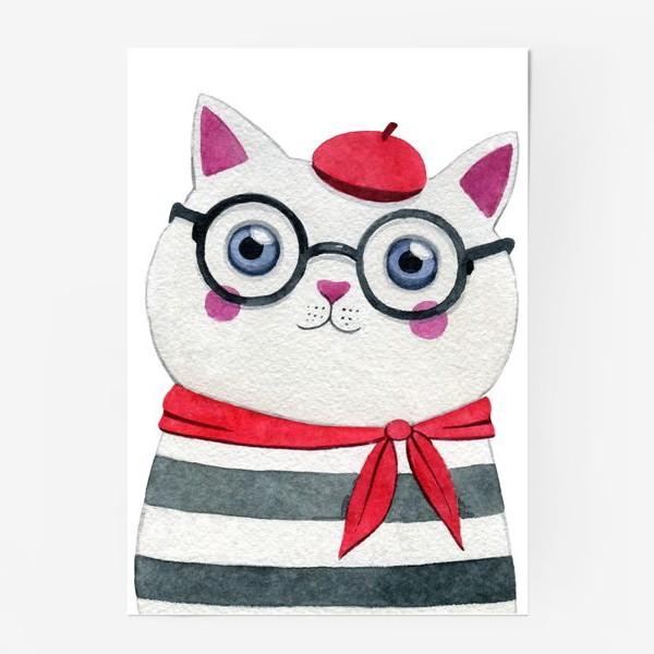 Постер «Parisian cat»