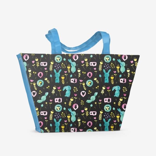 Пляжная сумка «Пасхальные кролики»
