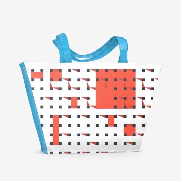 Пляжная сумка «плетеный паттерн»