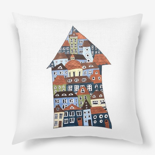 Подушка «шведские домики»
