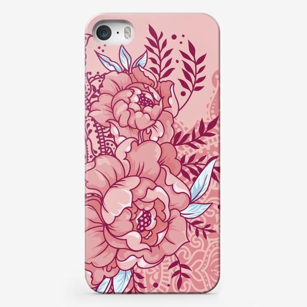 Чехол iPhone «Пионы и мандалы»