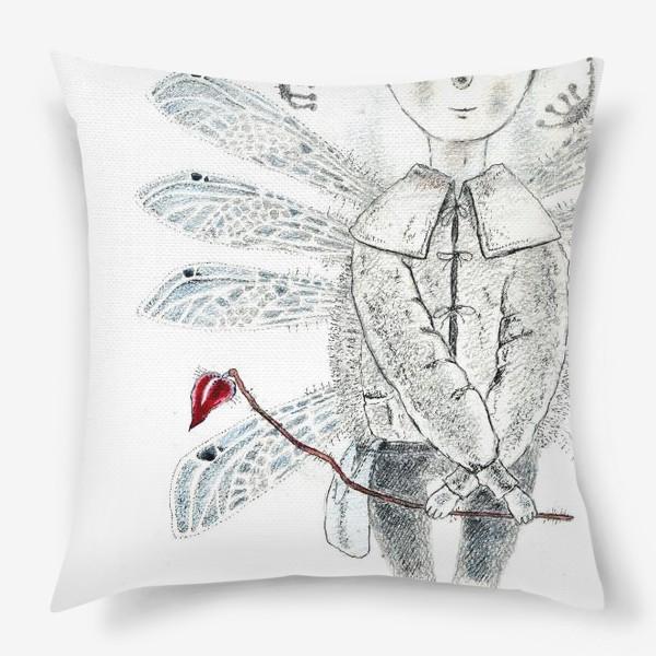 Подушка «Тебе, Мое сердечко. Крылатый мальчик.»