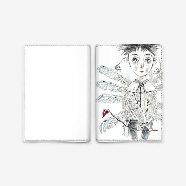 Обложка для паспорта «Тебе, Мое сердечко. Крылатый мальчик.»