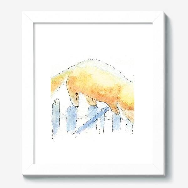 Картина «Котик на заборе»