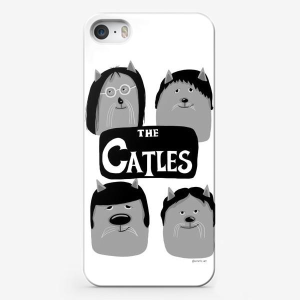 Чехол iPhone «Коты-Битлы»