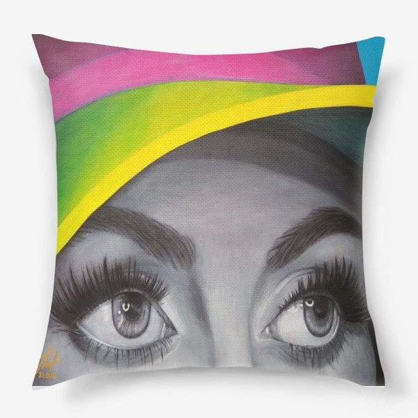 Подушка «Яркая шляпка. »