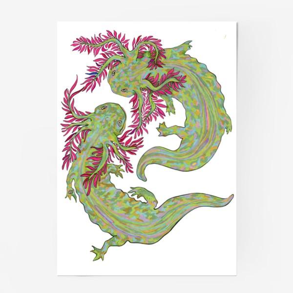 Постер «dancing axolotl»