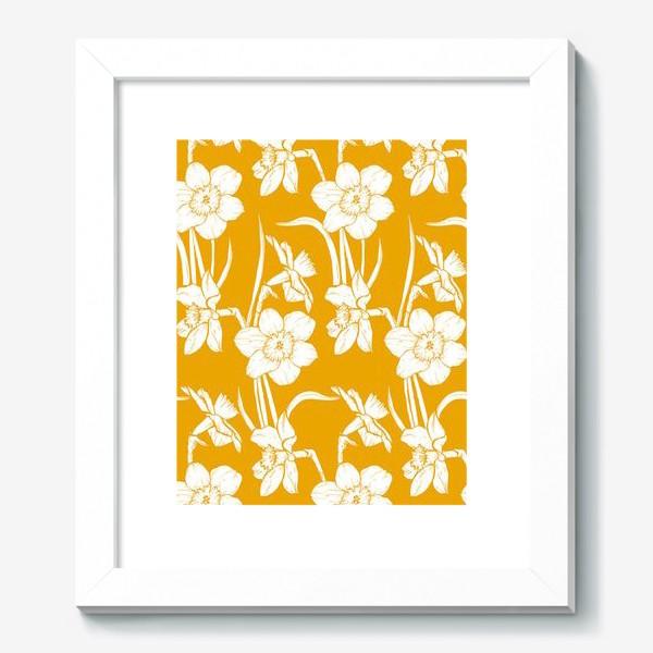 Картина «Нарциссы на желтом фоне»