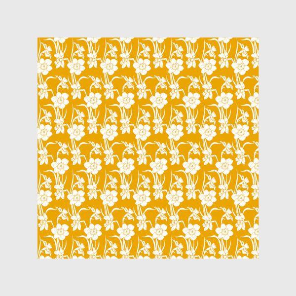 Шторы «Нарциссы на желтом фоне»
