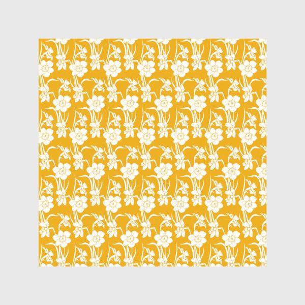 Скатерть «Нарциссы на желтом фоне»