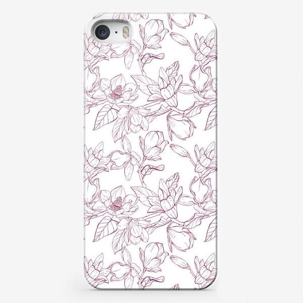 Чехол iPhone «Паттерн - магнолии»