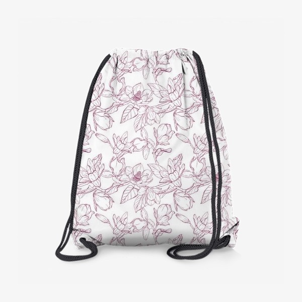 Рюкзак «Паттерн - магнолии»