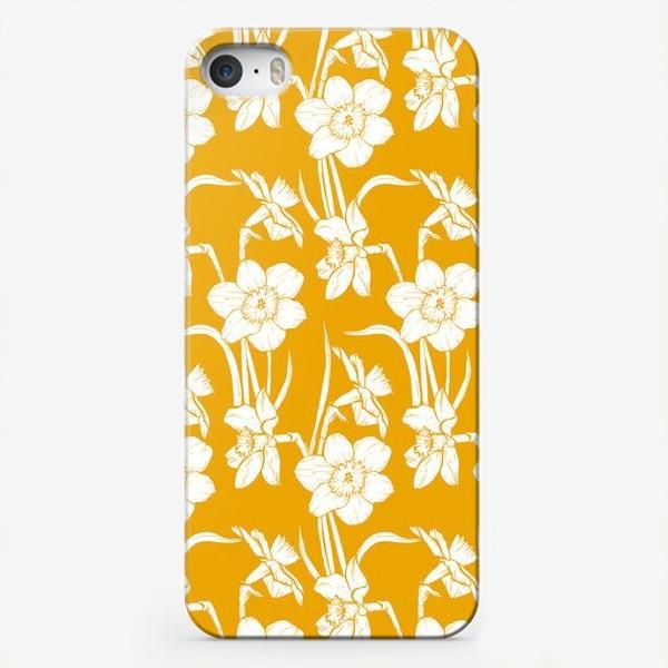 Чехол iPhone «Нарциссы на желтом фоне»
