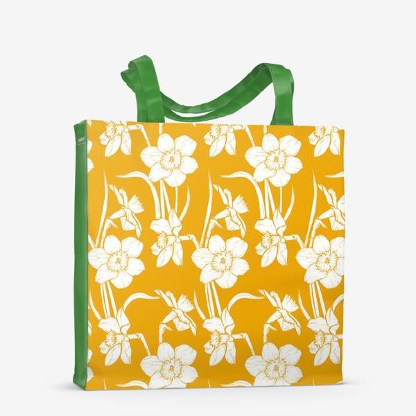 Сумка-шоппер «Нарциссы на желтом фоне»