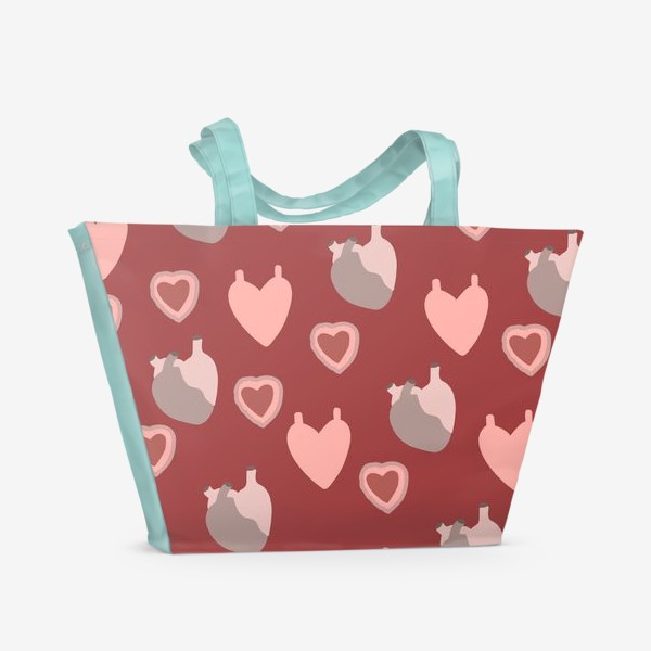 Пляжная сумка «сердце»
